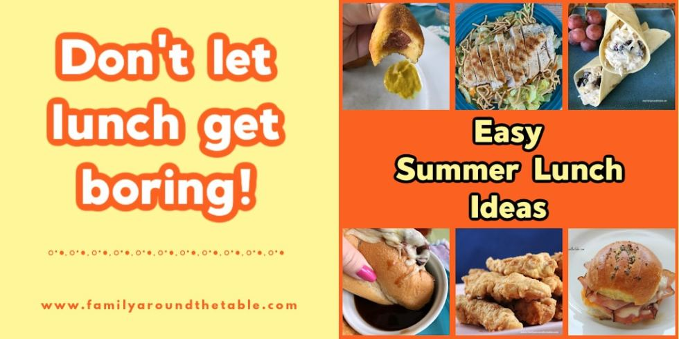 Easy Summer Lunch Ideas Twitter Collage.