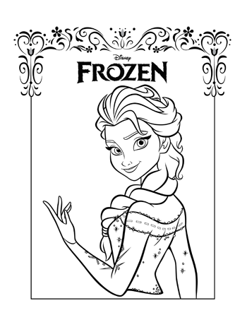 Elsa4 Frozen Colouring Pages