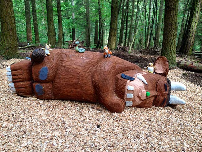 Sleeping Gruffalo at Wyre Forest!