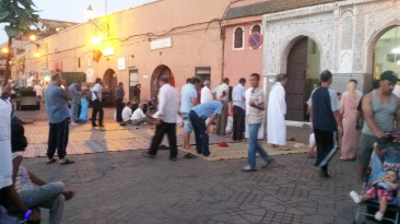 Prayer time in the Medina