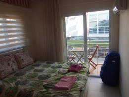 Master bedroom with its own deck
