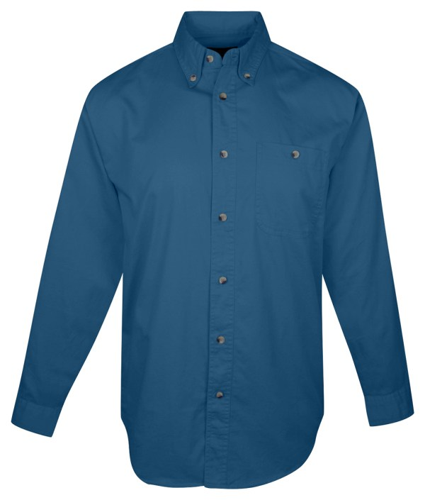 Tri-mountain Men' Big And Tall Button- Collar Twill