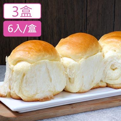 美食村拔絲牛奶麵包(6入X3盒)-鮮食家,生鮮美食攏抵家
