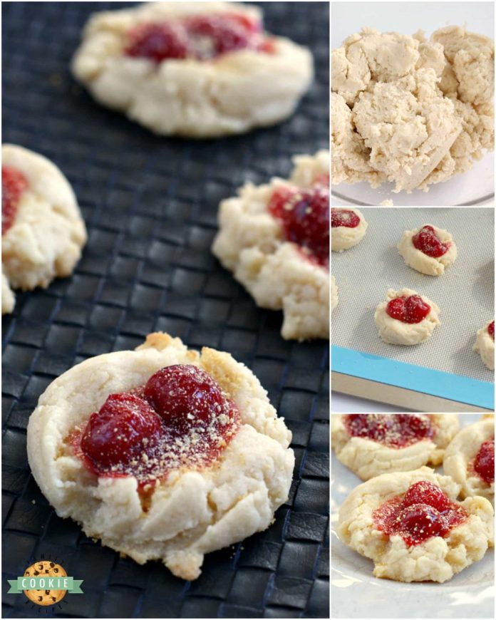 Step-by-step photos and instructions on how to make Cherry Cheesecake Cookies.