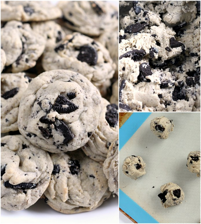 Step by step photos and instructions about how to make Cookies & Cream cookies with Oreo cookies and pudding mix.
