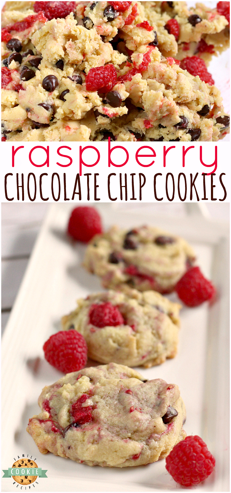Raspberry Chocolate Chip Cookies by Family Cookie Recipes
