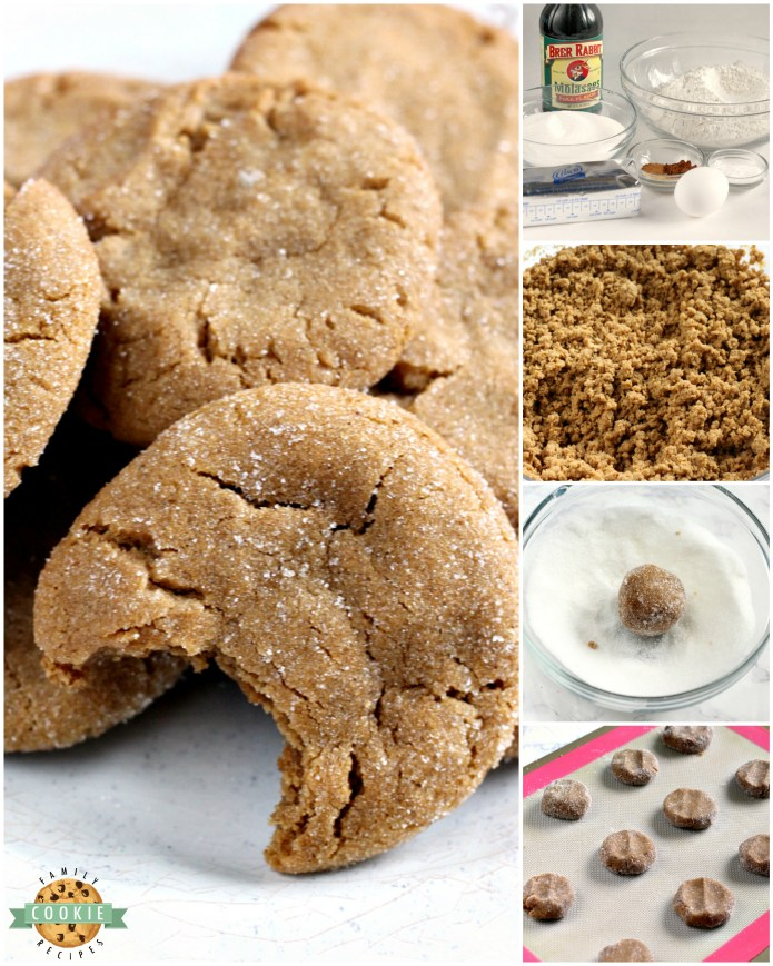 Soft Gingerbread Cookies are chewy, delicious and the perfect cookie for the holidays! This Gingerbread Cookie recipe is full of the flavors of cinnamon, cloves, ginger and molasses and the best part about these cookies is that they stay perfectly soft for several days!