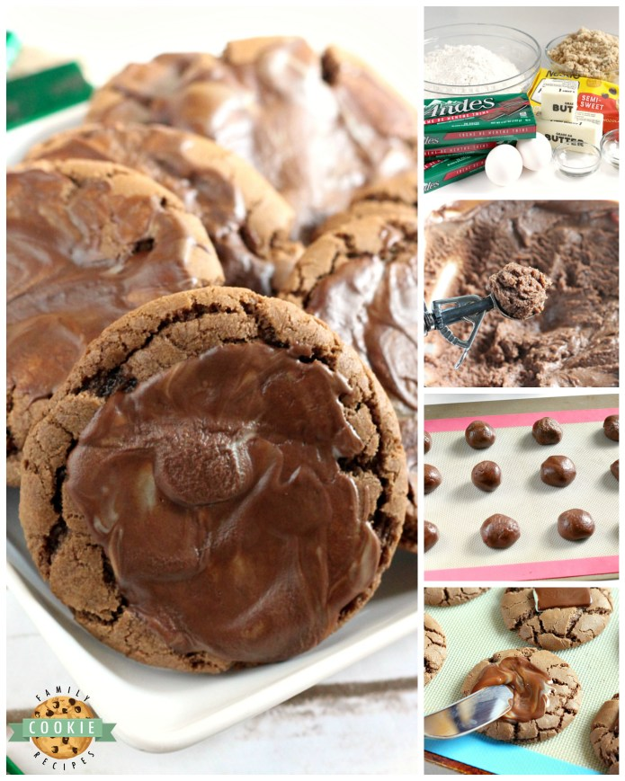 Andes Mint Chocolate Cookies are chewy, chocolate and frosted with a melted Andes mint! These cookies have the perfect combination of chocolate and mint flavors - this is one of my favorite cookie recipes!