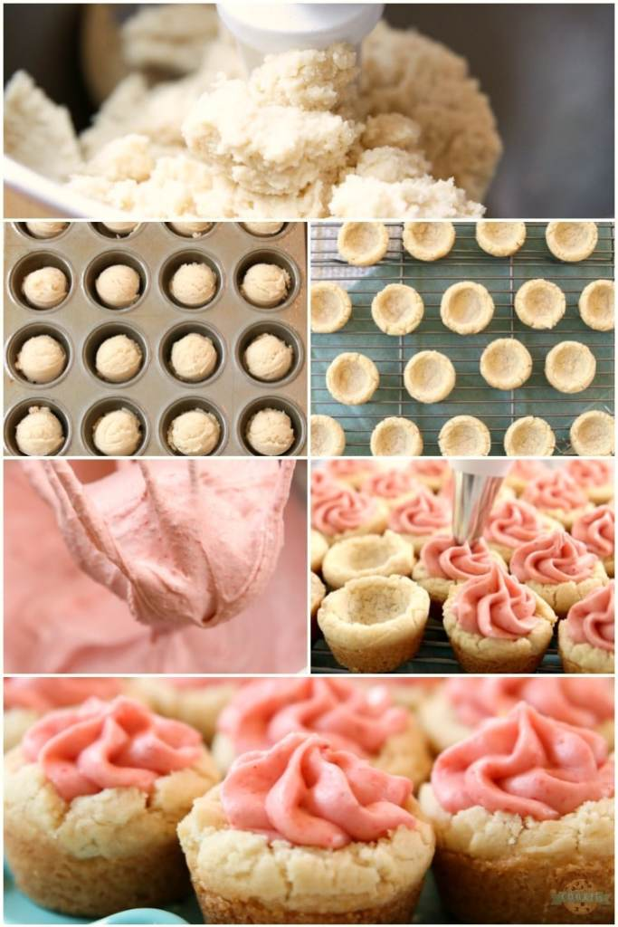 How to make buttercream frosting strawberry cookies cups