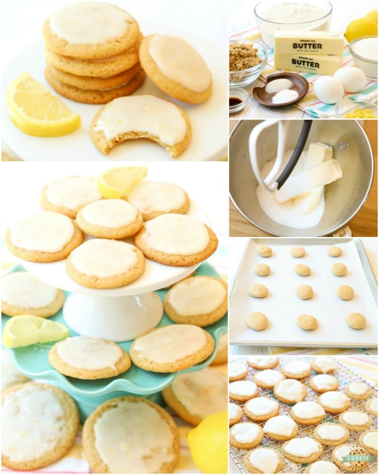 How to make lemon cookies with icing. How to make glazed lemon cookies.