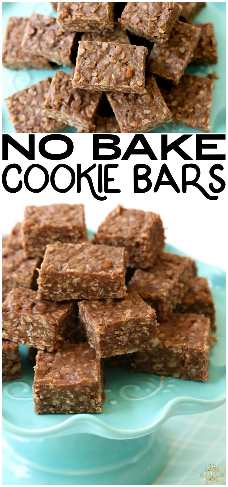 No Bake Cookie Barsrecipe is a quick variation on THE BEST no bake cookies recipe. Made with quick oats & chocolate chips, these no bake oatmeal cookiescouldn't be tastier! via @buttergirls