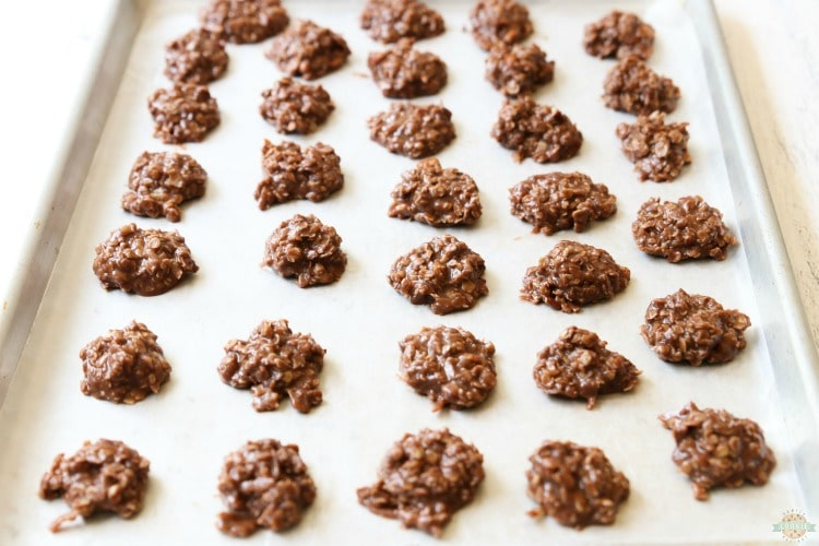 cooling no bake cookies