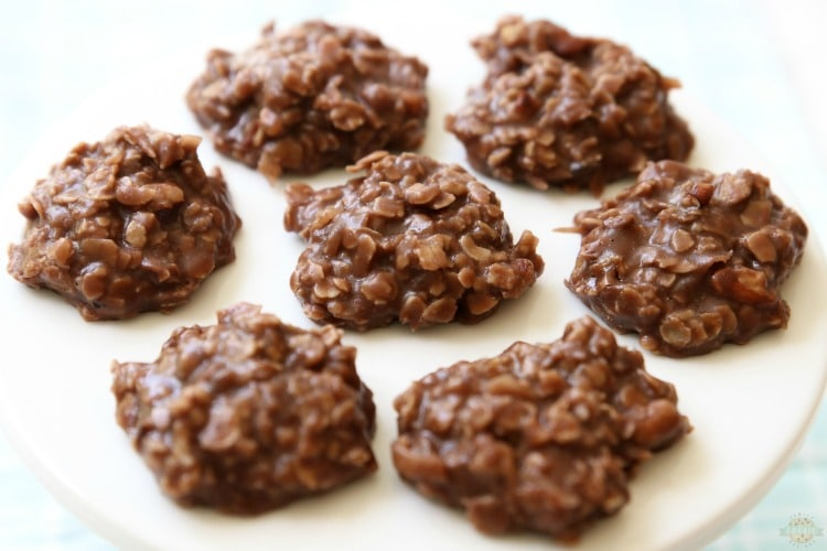 Easy No Bake Cookies are simple, oatmeal chocolate cookies that don't require baking time! I've tried many & this peanut butter no bake cookies recipe is the absolute BEST.