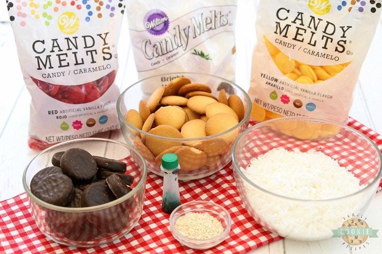 no-bake hamburger cookie ingredients