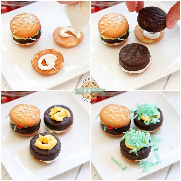 how to make hamburger cookies