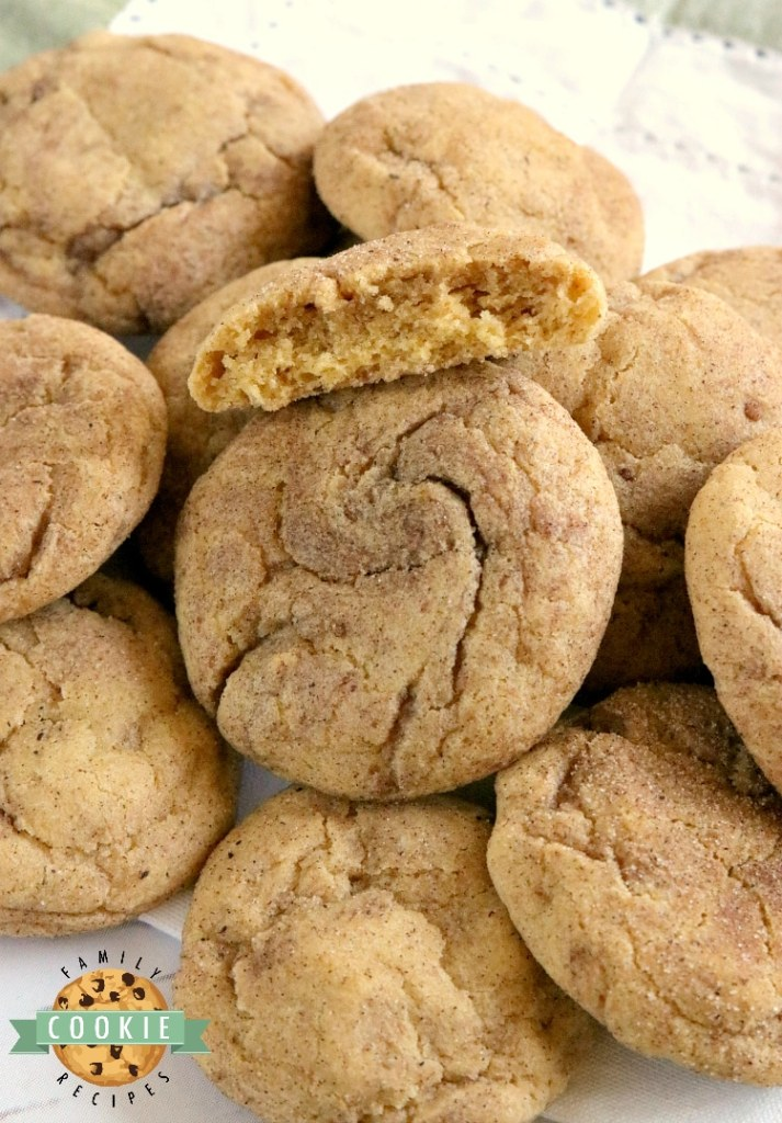 Pumpkin Snickerdoodles are soft, chewy and packed with pumpkin flavor! These delicious pumpkin cookies are rolled in cinnamon and sugar - one of my favorite fall cookie recipes!