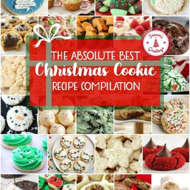 Best collection of easy Christmas Cookies ever- they're even approved for Santa himself! Our Christmas cookies are perfect for holiday parties, cookie exchanges and neighbor goodie plates!