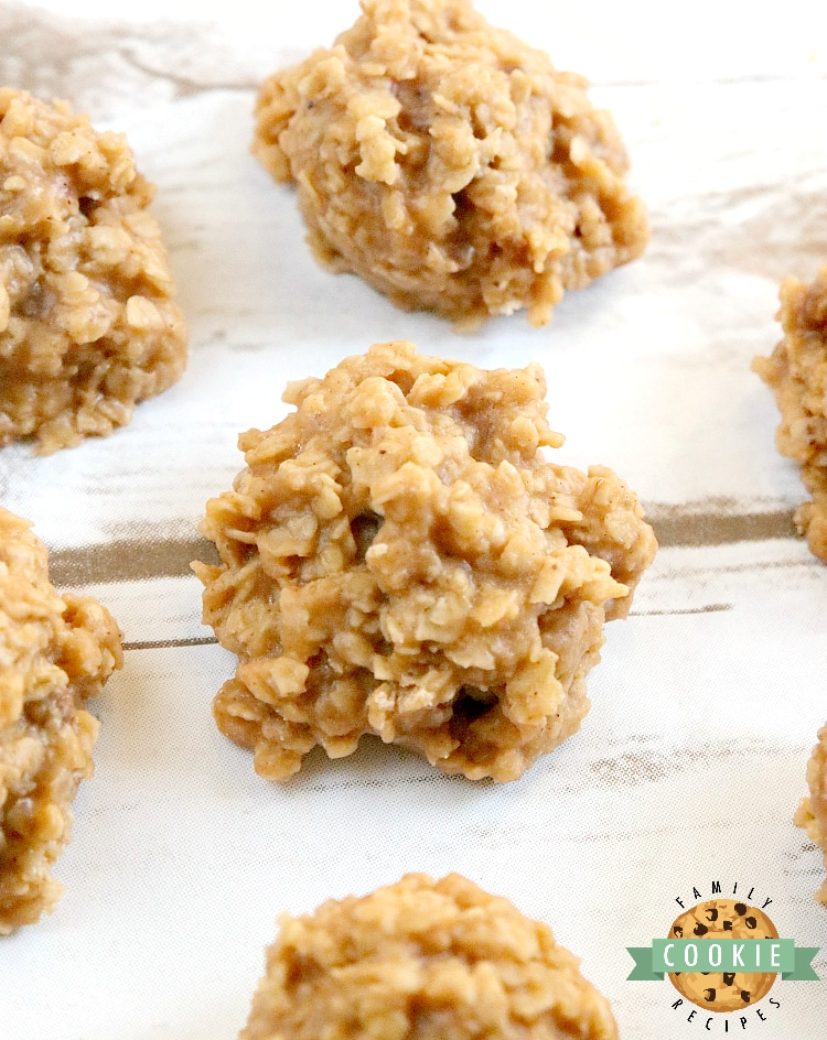 No Bake Pumpkin Cookies are full of oats and pumpkin flavor and come together in minutes without ever turning the oven on. This easy no bake cookie recipe is quick, delicious and perfect for fall!