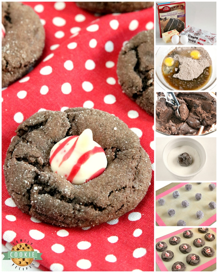 Step by step instructions on how to make Hersheys kisses blossoms with a cake mix