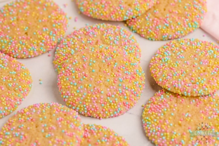 Easter Sprinkle Cookies are a great way to celebrate the holiday with a sweet treat. The colorful sprinkles on a soft and chewy sugar cookie make for a delicious snack that looks as good as it tastes!