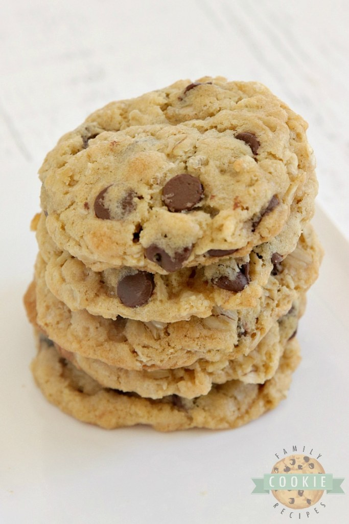 Chocolate chip cookie recipe with oats and rice krispies