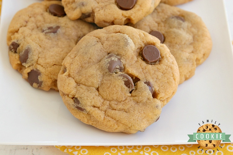 Chocolate chip cookies made with butterscotch pudding