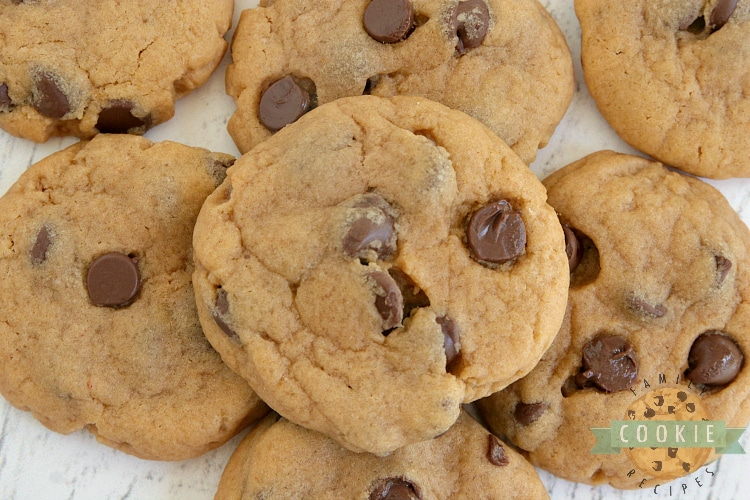 Butterscotch cookies with chocolate chips