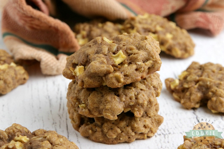 Apple Pumpkin Oatmeal Cookies are thick, soft, chewy and full of pumpkin flavor and fresh apples. The perfect cookie recipe for fall!