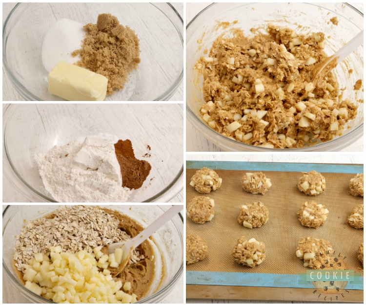 How to make pumpkin cookies with chopped apples