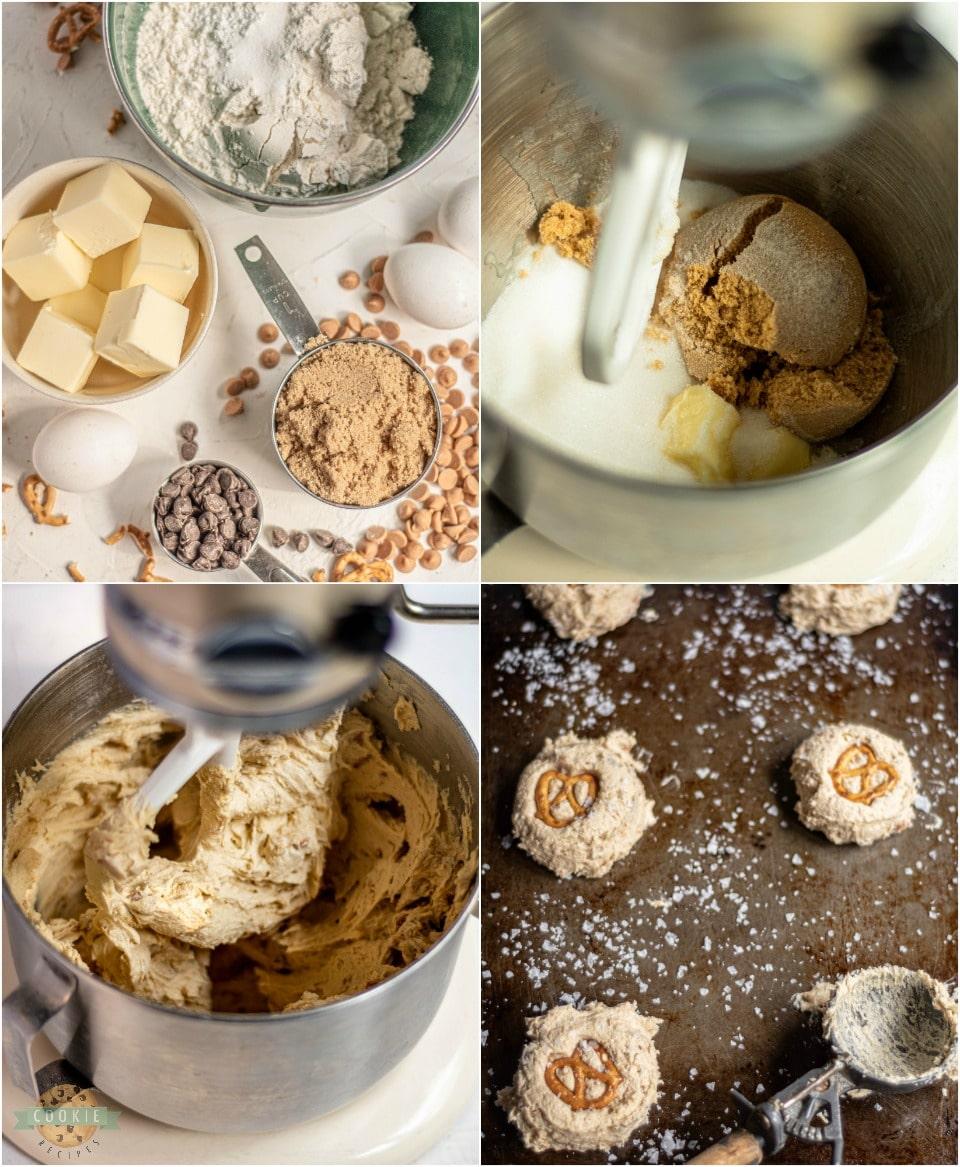 how to make Salted Butterscotch Pretzel Cookies recipe