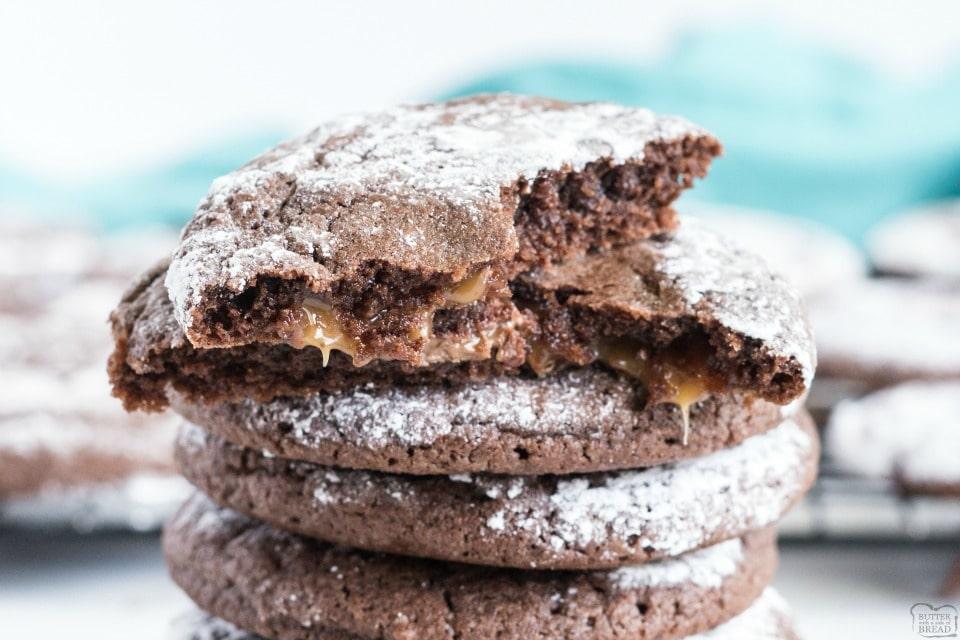 Salted Caramel Chocolate Crinkle Cookies recipe
