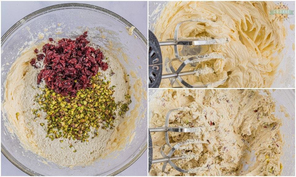 how to make Cranberry Pistachio Snowball Cookies recipe