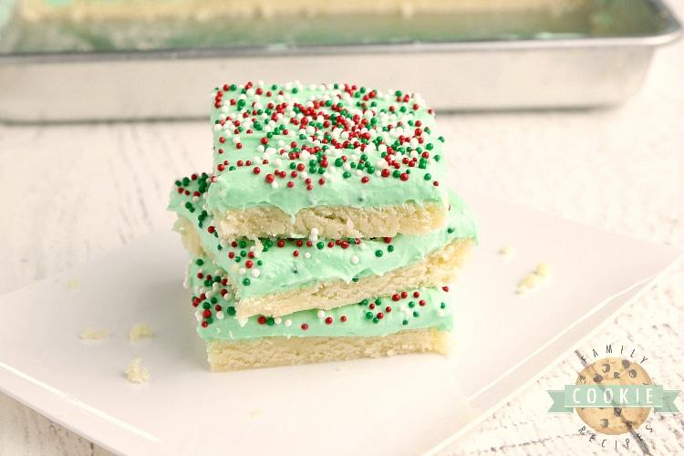 Sliced sugar cookie bars