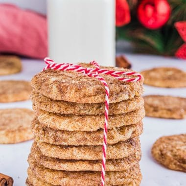 Holiday Gingerbread Spiced Snickerdoodle Cookies