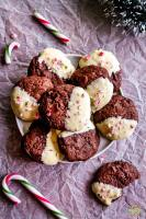 Double Chocolate Brownie Peppermint Cookie recipe