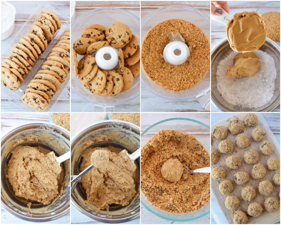 How to Make No Bake Peanut Butter Cookie Bites