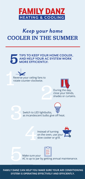5 ways to keep your home cooler this summer infographic