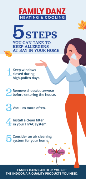 5 Steps You Can Take to Keep Your Allergens at Bay in Your Home Infographic.