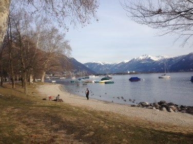 Locarno // Ascona - Little Beach during walk from Minusio to Locarno