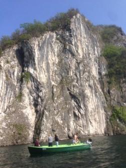 The cliff next to Campione d'Italia