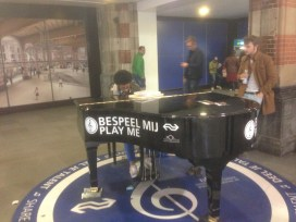At Central Train Station Amsterdam you can give a wonderful recital...if you want.