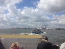 Taking the ferry to NDSM Werf is a beautiful way to view the architecture along the IJ waterfront