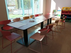 Blu - Play room, tables for drawing