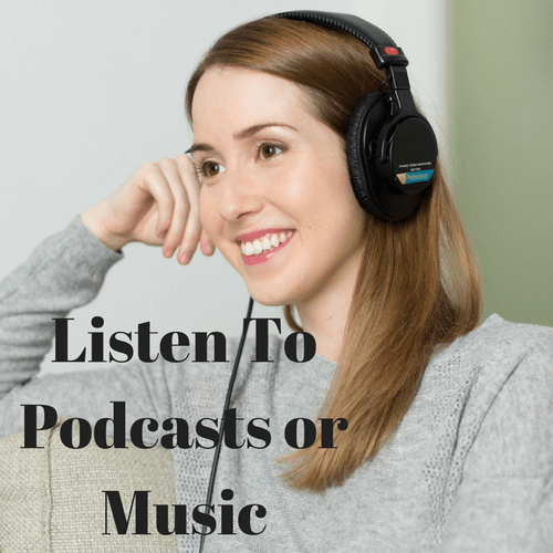 podcast and music