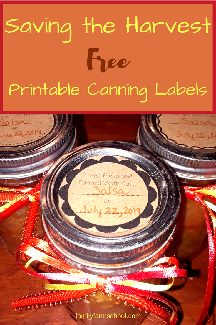 diy printable canning labels
