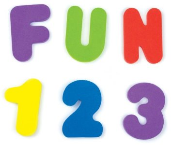 Gifts For Toddlers - Munchkin Letters and Numbers Bath Toys