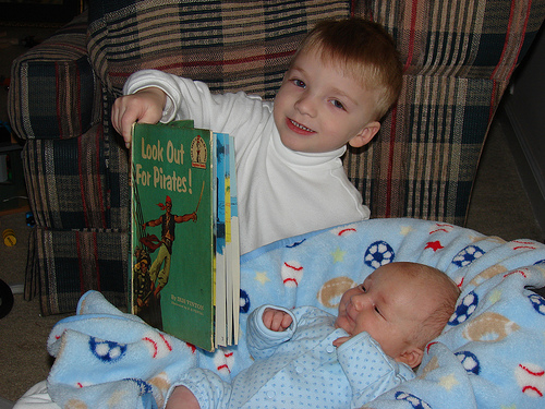 Gregory Reading to Nicholas
