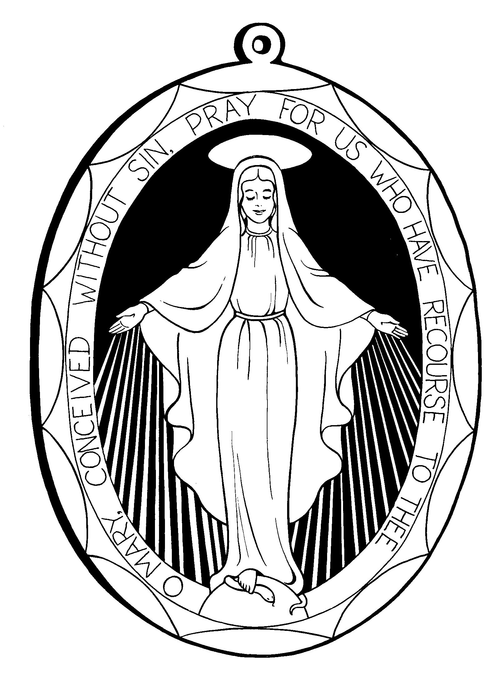 miraculous medal images miraculousmedal1 miraculousmedalback miraculous medal coloring pages