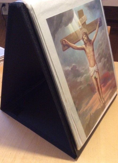 Stations of the Cross Easel Display side view