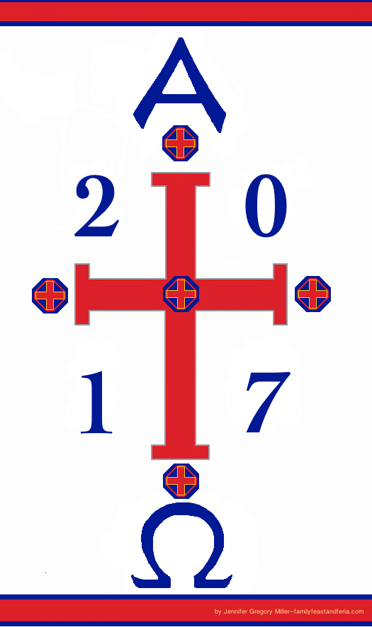 Paschal candle for the home 2017 family in feast and feria for Most popular candles 2017